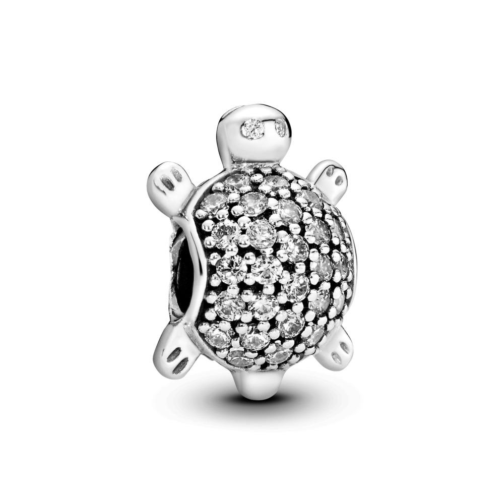 Sea Turtle Charm, Clear CZ, Sterling silver, Cubic Zirconia - PANDORA - #791538CZ