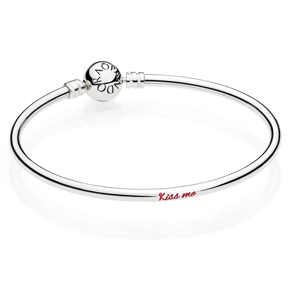 Kiss Me Bangle, Sterling silver - PANDORA - #ENG590713_2