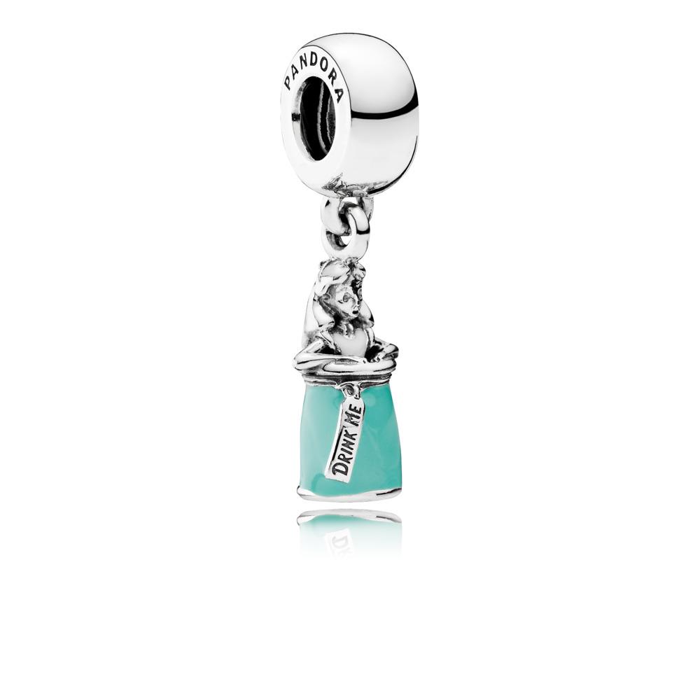 Disney, Alice's Magic Potion Dangle Charm, Mixed Enamel, Sterling silver, Enamel, Green - PANDORA - #791897ENMX