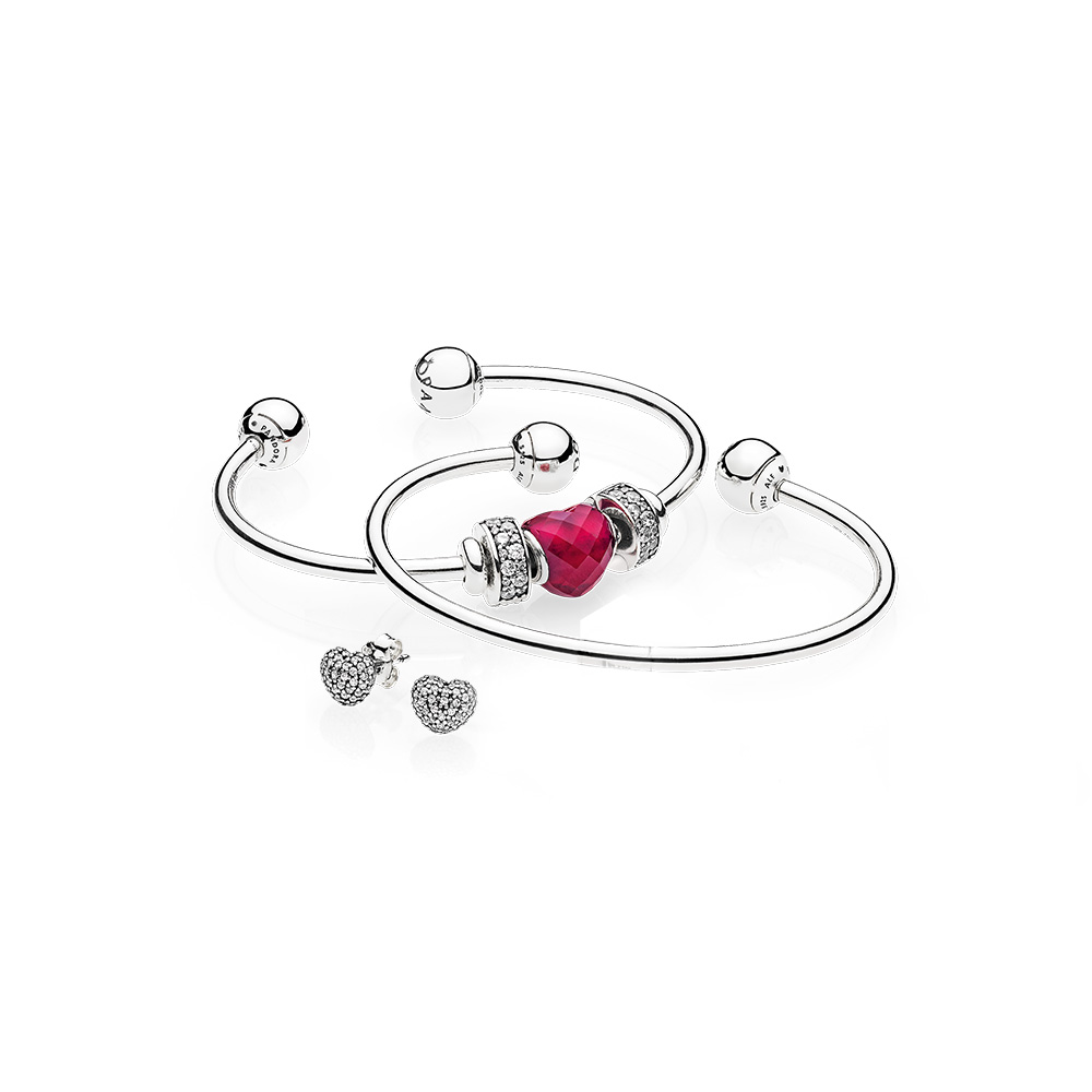 Be Mine Stacked Open Bangle Gift Set