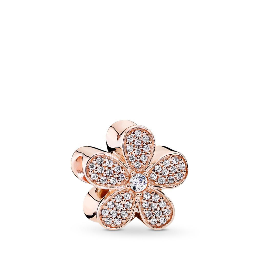 Dazzling Daisy Charm, PANDORA Rose™ & Clear CZ, PANDORA Rose, Cubic Zirconia - PANDORA - #781480CZ