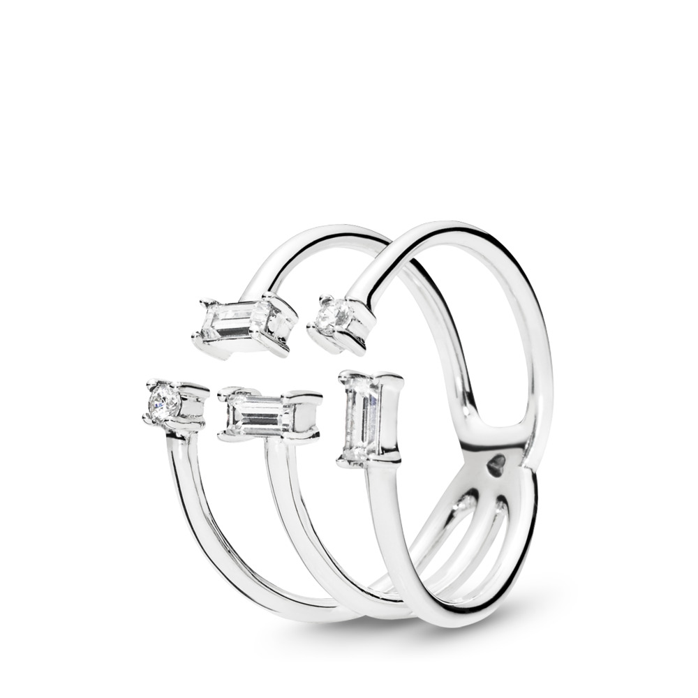 Shards of Sparkle Ring, Clear CZ, Sterling silver, Cubic Zirconia - PANDORA - #197527CZ