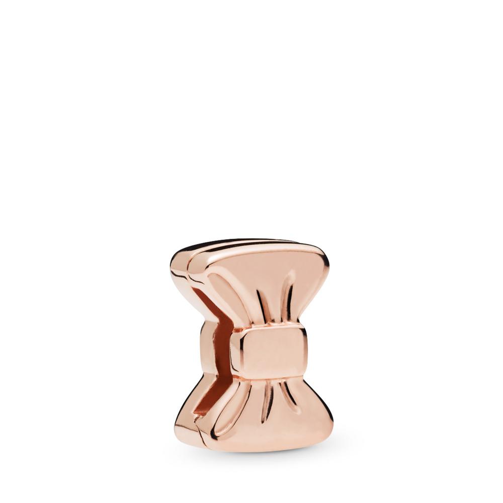 PANDORA Reflexions™ Sweet Bow Clip Charm, PANDORA Rose™, PANDORA Rose, Silicone - PANDORA - #787582