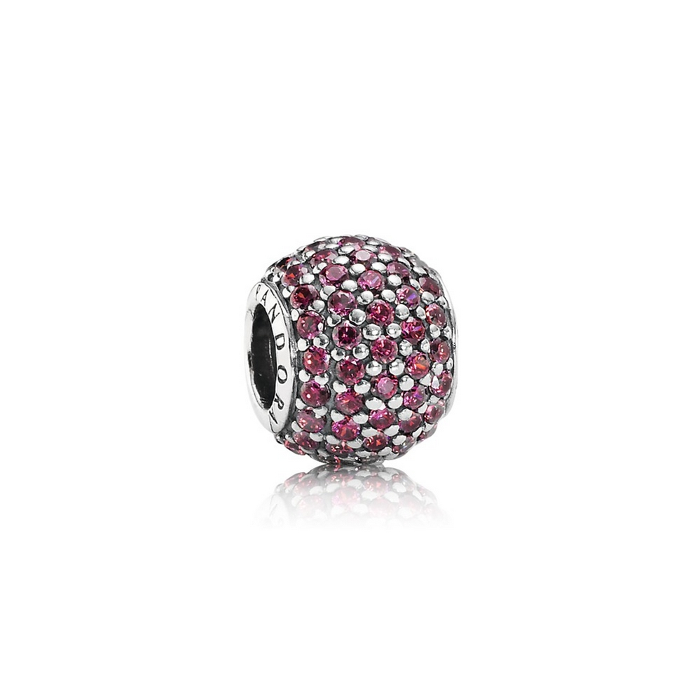 Pavé Lights Charm, Red CZ