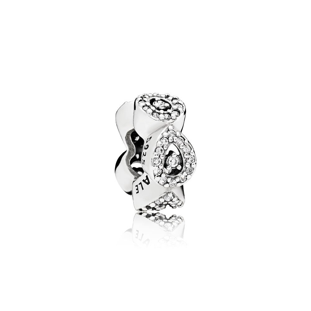 Cascading Glamour Spacer, Clear CZ