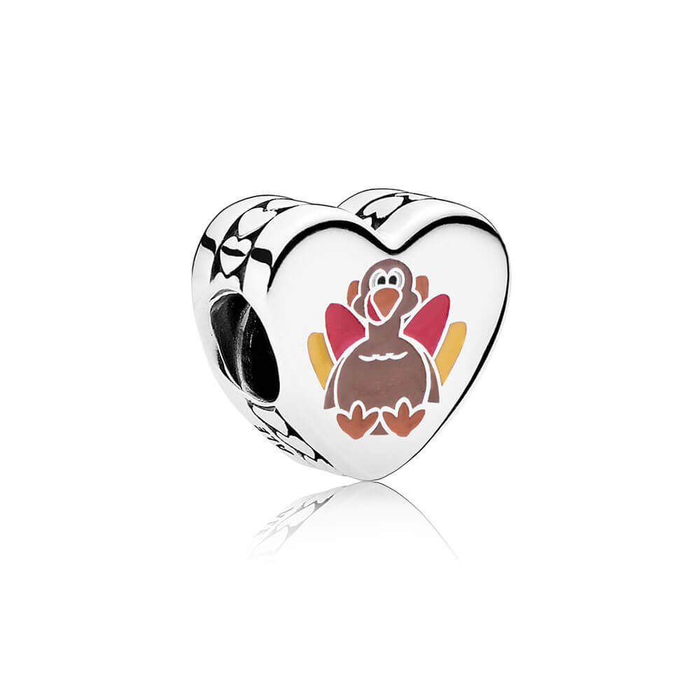 Thankful For You Charm, Sterling Silver, Enamel, Red - PANDORA - #ENG792015_10