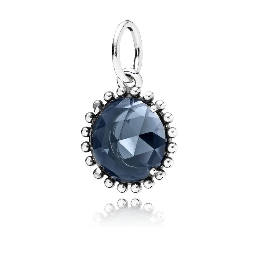 Midnight Star Pendant, Midnight Blue Crystal, Sterling silver, Blue, Crystal - PANDORA - #390361NBC