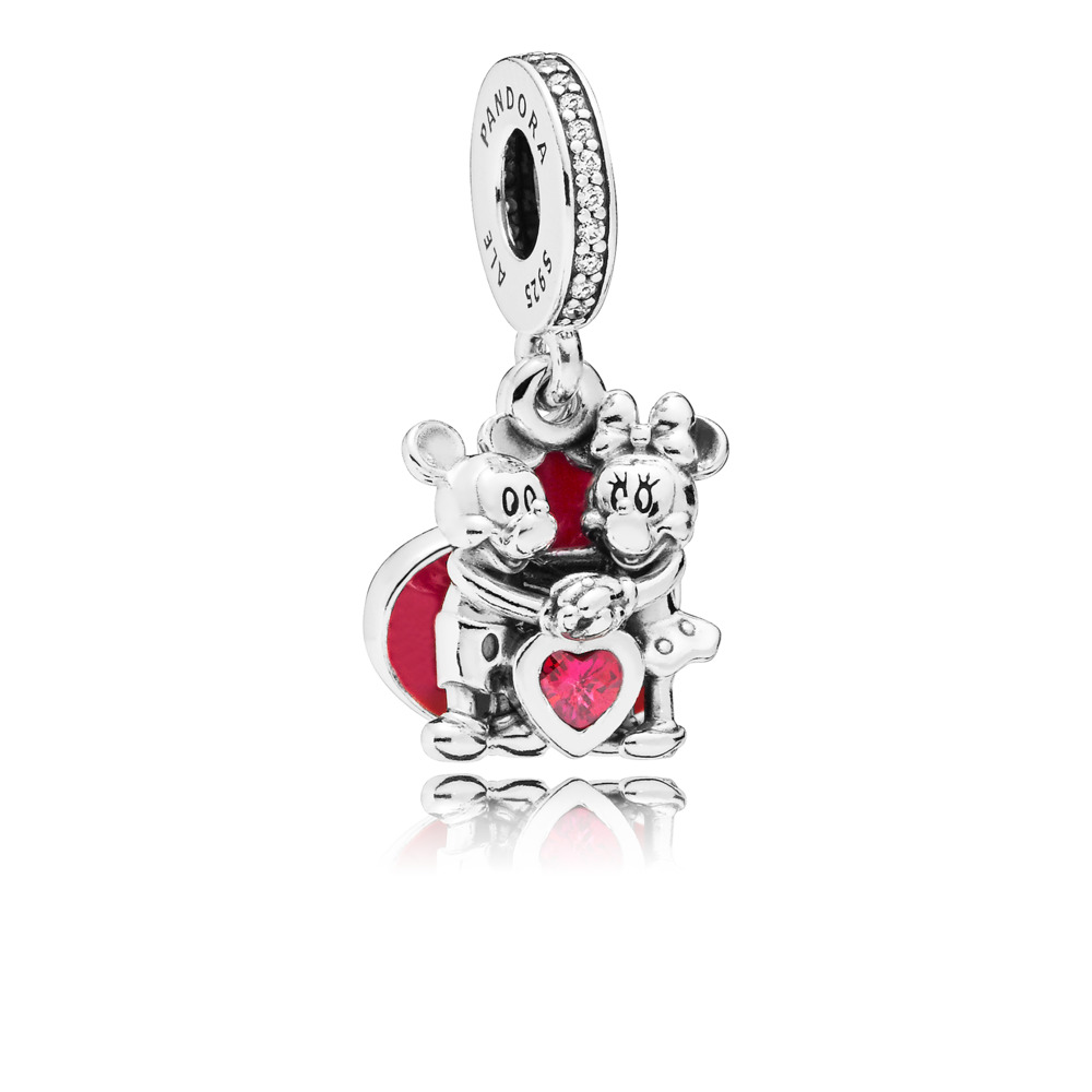 Disney, Minnie & Mickey With Love Charm
