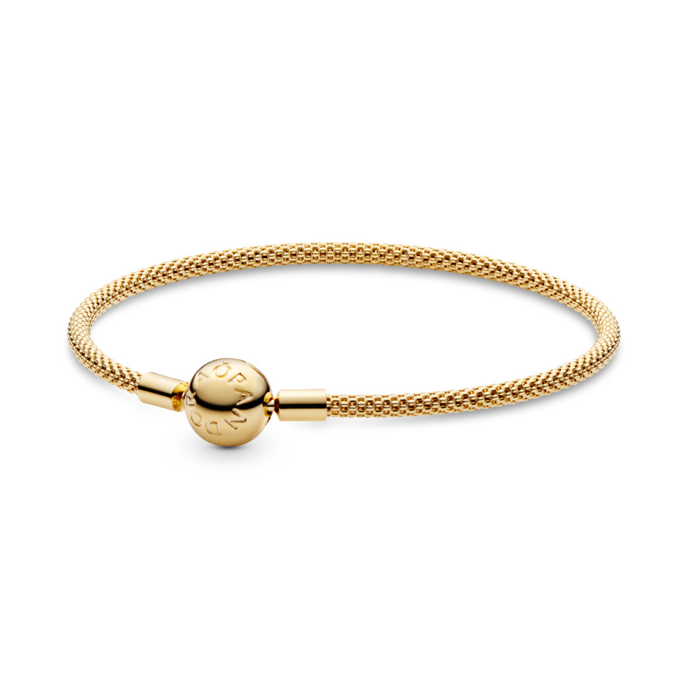 PANDORA Shine™ Mesh Bracelet, 18ct Gold Plated - PANDORA - #566543
