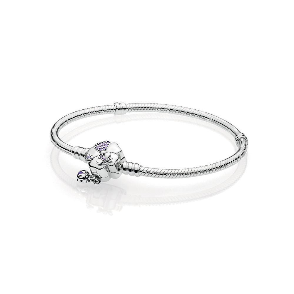 Wildflower Meadow Clasp Sterling Silver Bracelet
