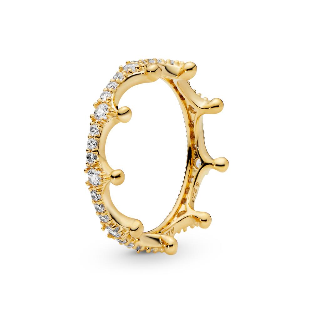 Enchanted Crown Ring, PANDORA Shine™ & Clear CZ, 18ct Gold Plated, Cubic Zirconia - PANDORA - #167119CZ