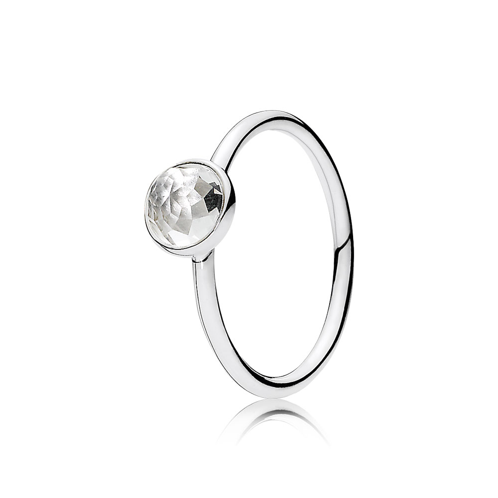 April Droplet Ring, Rock Crystal