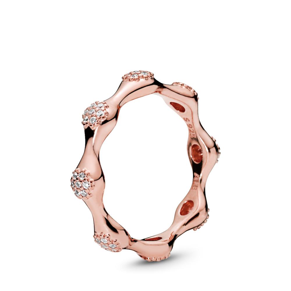 Modern LovePods™ Ring, PANDORA Rose™ & Clear CZ, PANDORA Rose, Cubic Zirconia - PANDORA - #187295CZ