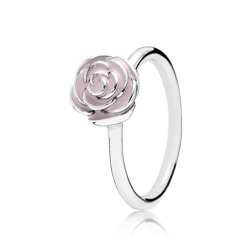 Rose Garden Ring, Pink Enamel, Sterling silver, Enamel, Pink - PANDORA - #190905EN40