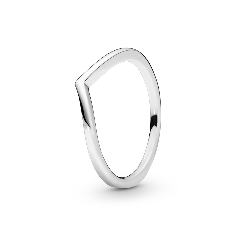 Polished Wishbone Ring, Sterling silver - PANDORA - #196314