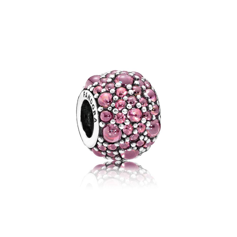 Shimmering Droplet Charm, Honeysuckle Pink CZ