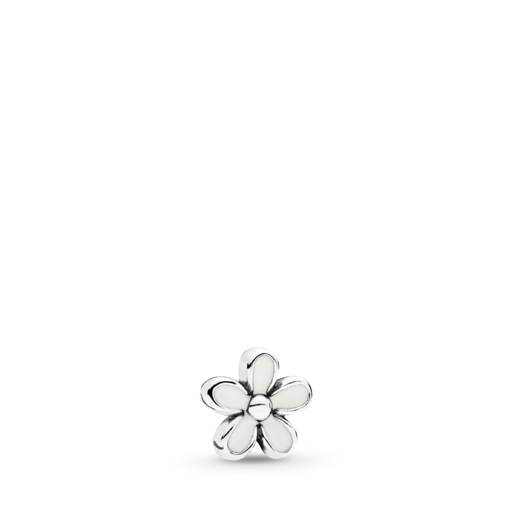 Darling Daisy Petite Locket Charm, Sterling silver, Enamel - PANDORA - #792172EN12