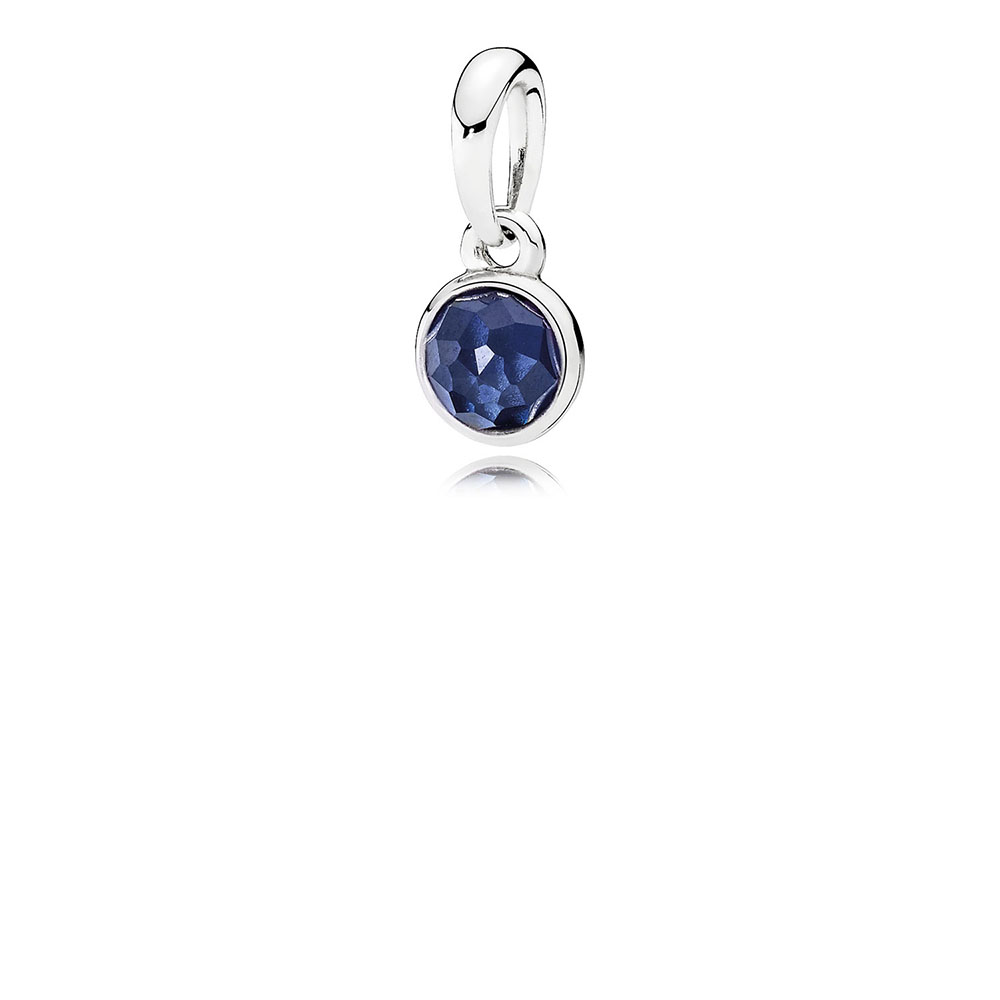 September Droplet Pendant, Synthetic Sapphire