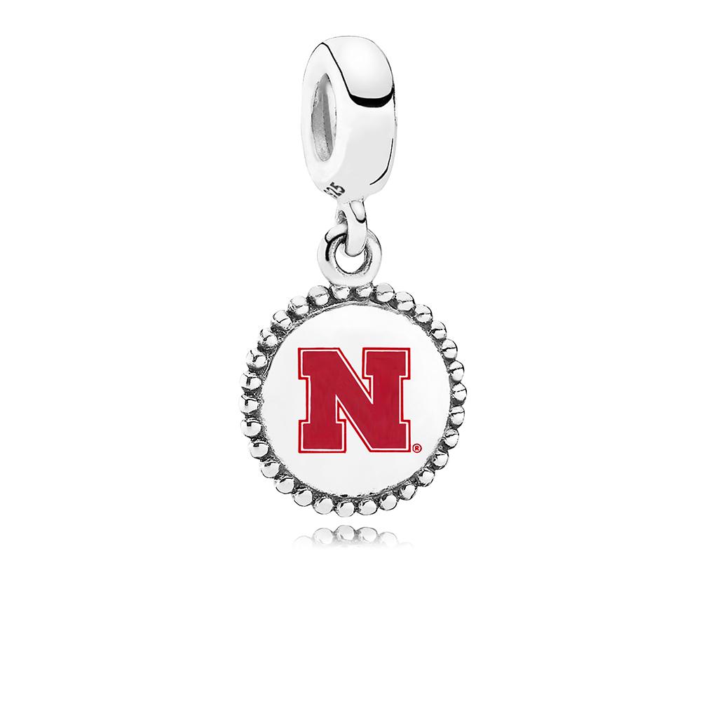 University of Nebraska Dangle Charm, Red Enamel, Sterling Silver, Red - PANDORA - #ENG791169_72