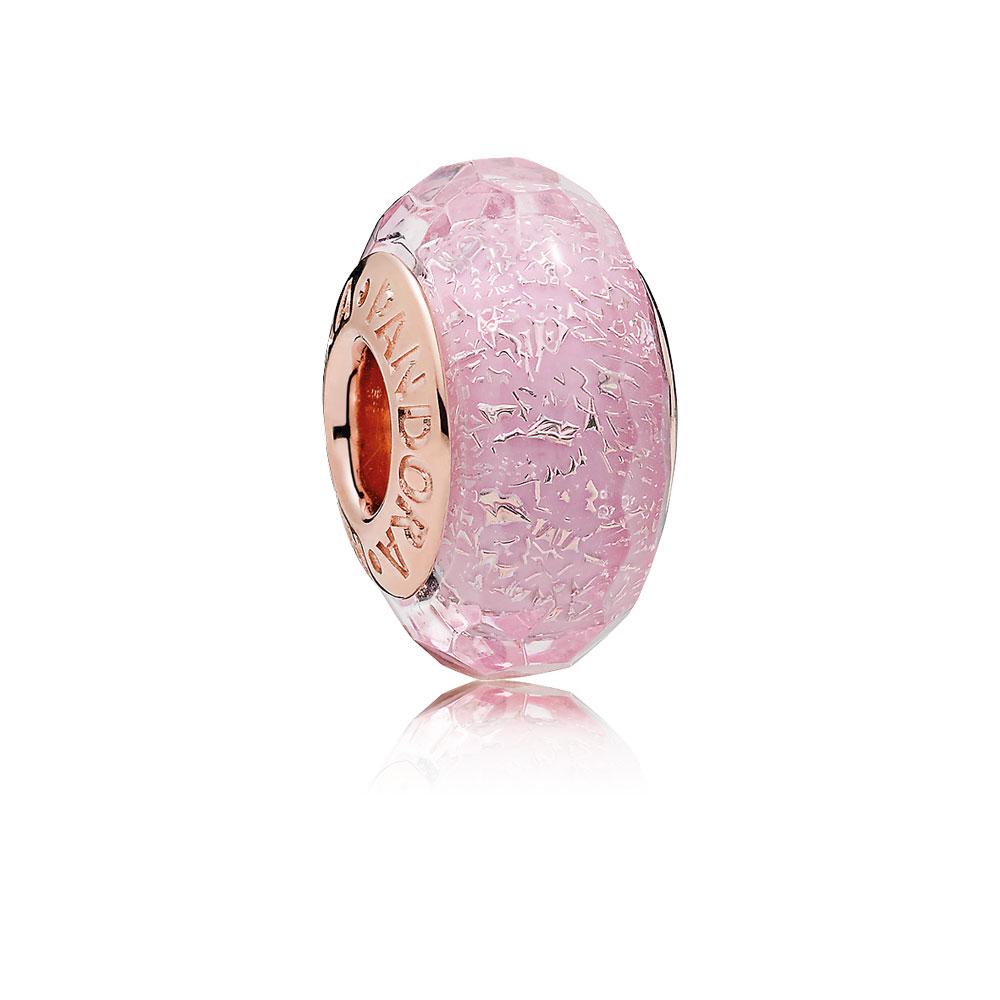 Pink Shimmering Murano Glass Charm, PANDORA Rose™
