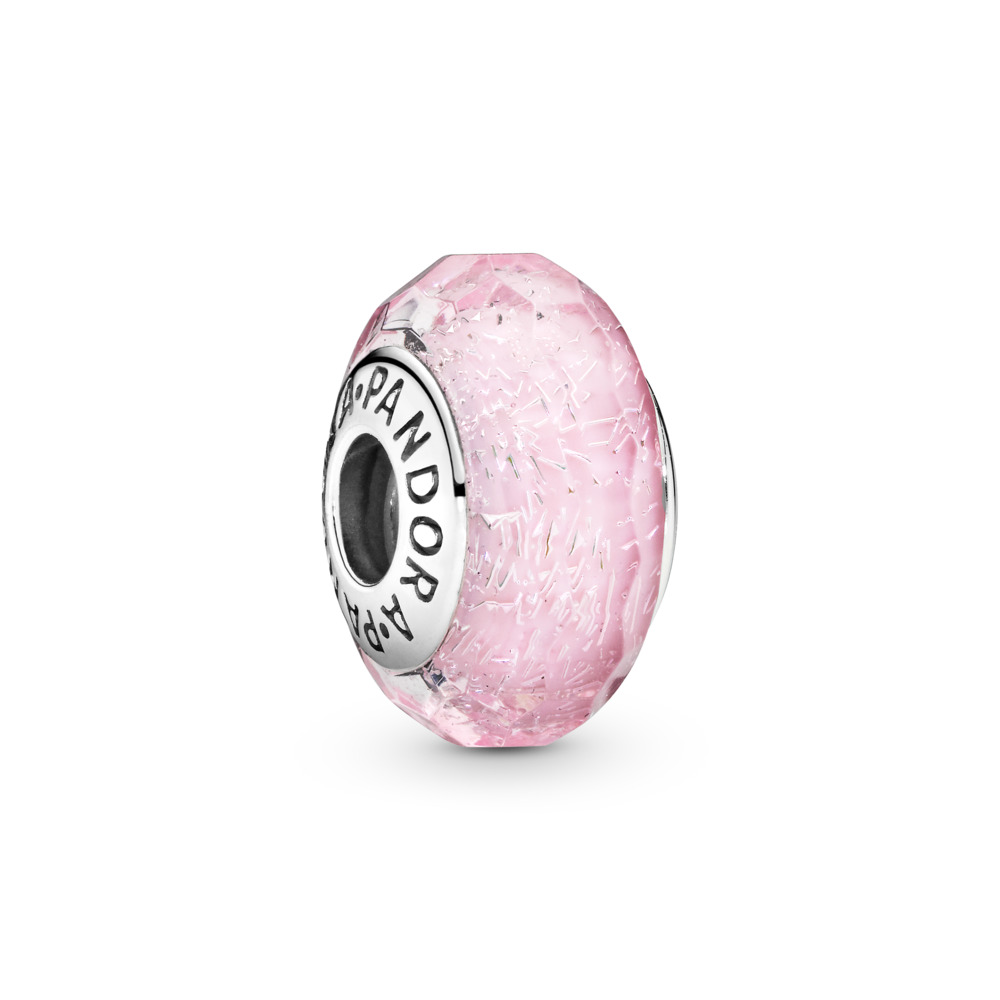 Pink Shimmer Charm, Murano Glass, Sterling silver, Glass, Pink - PANDORA - #791650