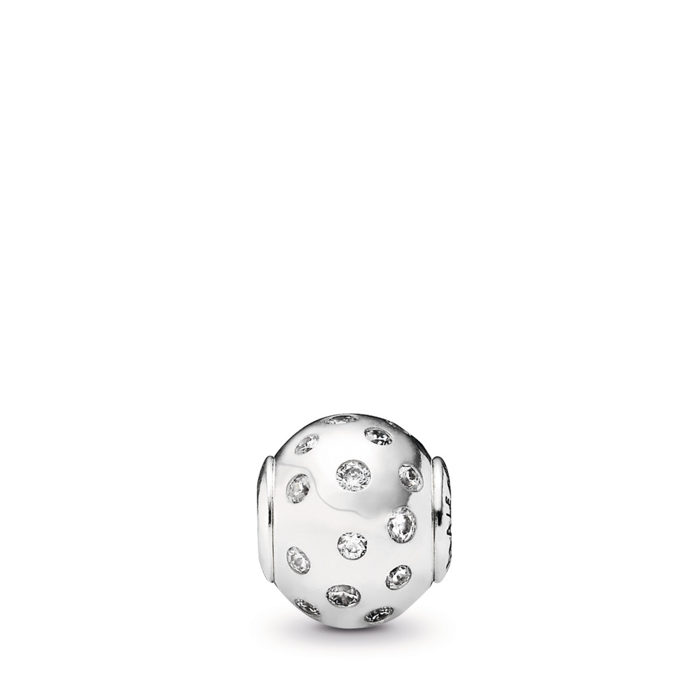 JOY Charm, Clear CZ, Sterling silver, Silicone, Cubic Zirconia - PANDORA - #796020CZ