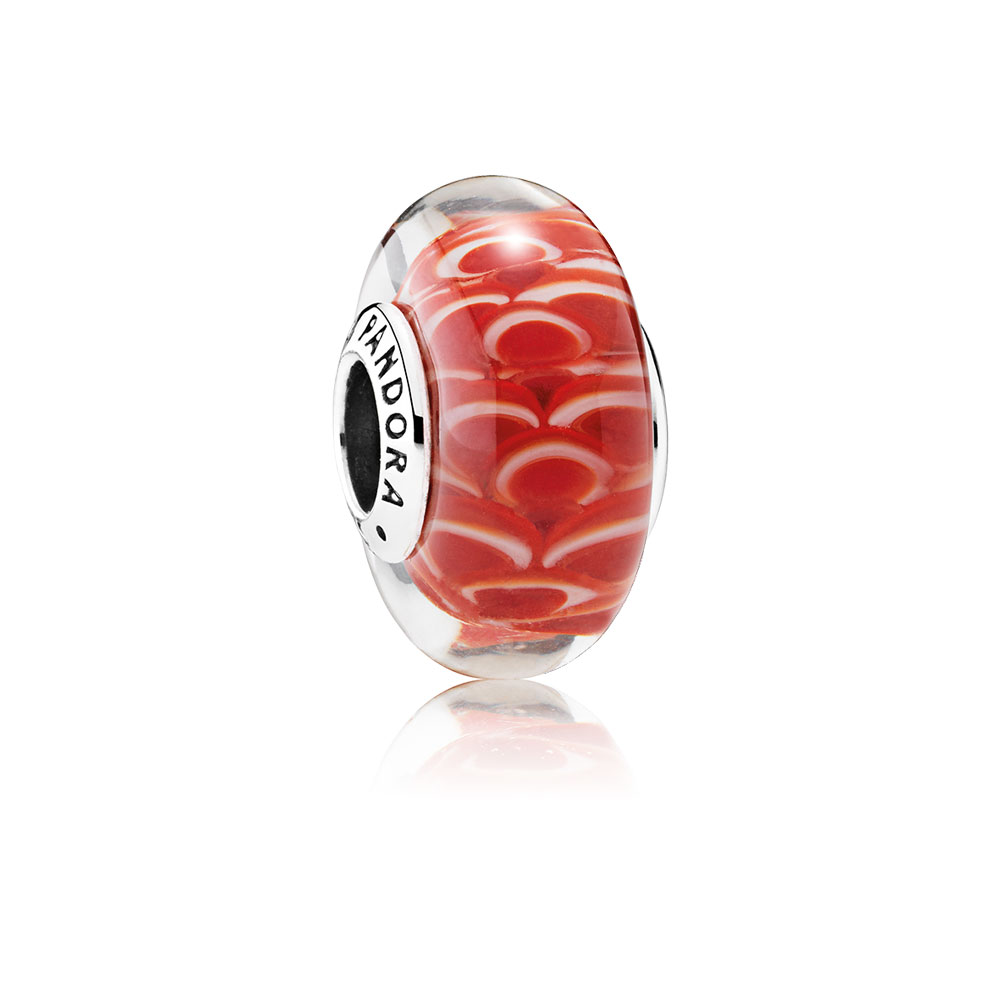 Asian Koinobori Charm, Murano Glass
