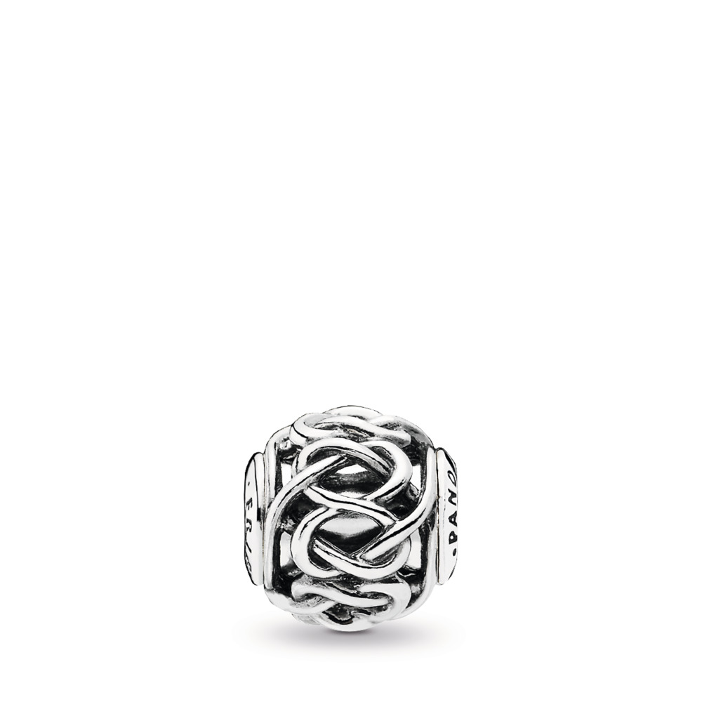 FRIENDSHIP Charm, Sterling silver, Silicone - PANDORA - #796057