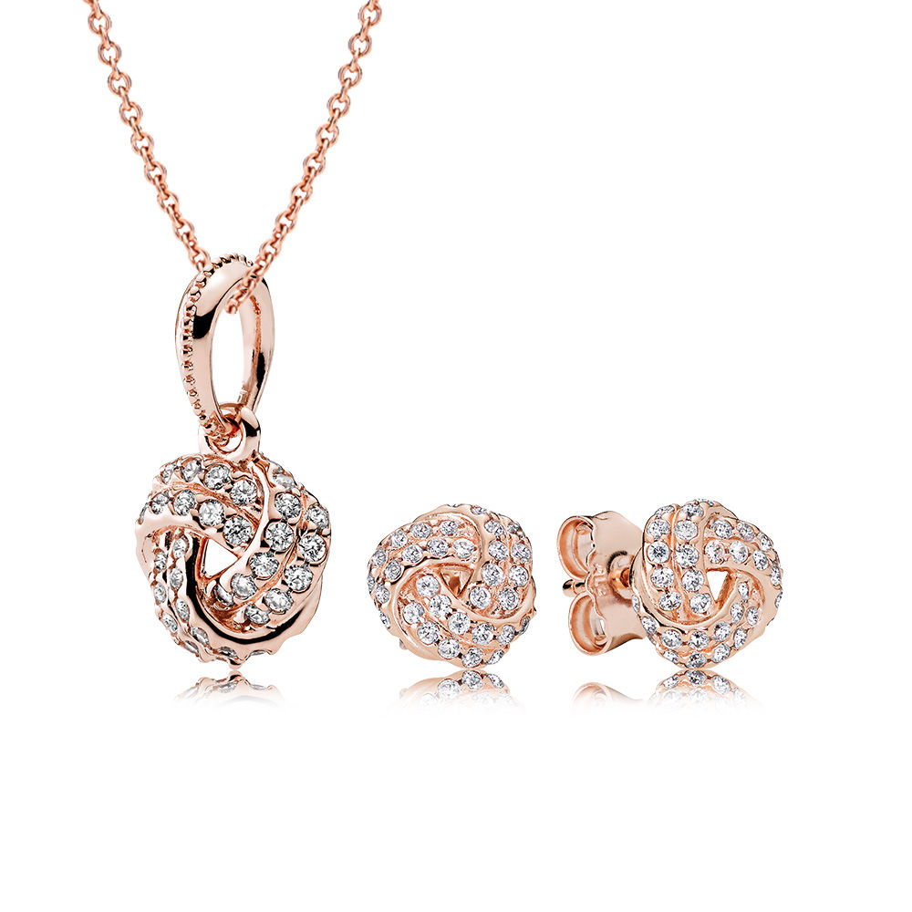 Sparkling Love Knot PANDORA Rose™ Jewelry Set