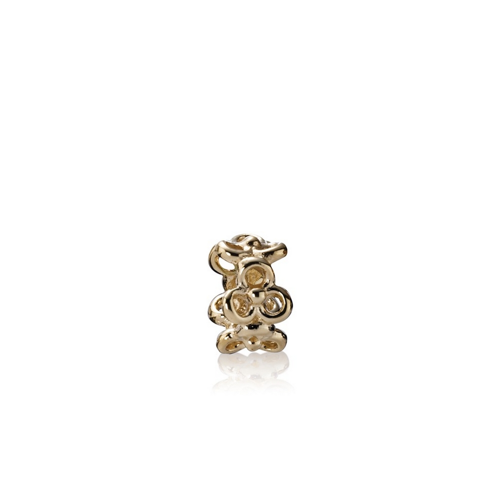 Trinity Flowers Spacer, 14K Gold
