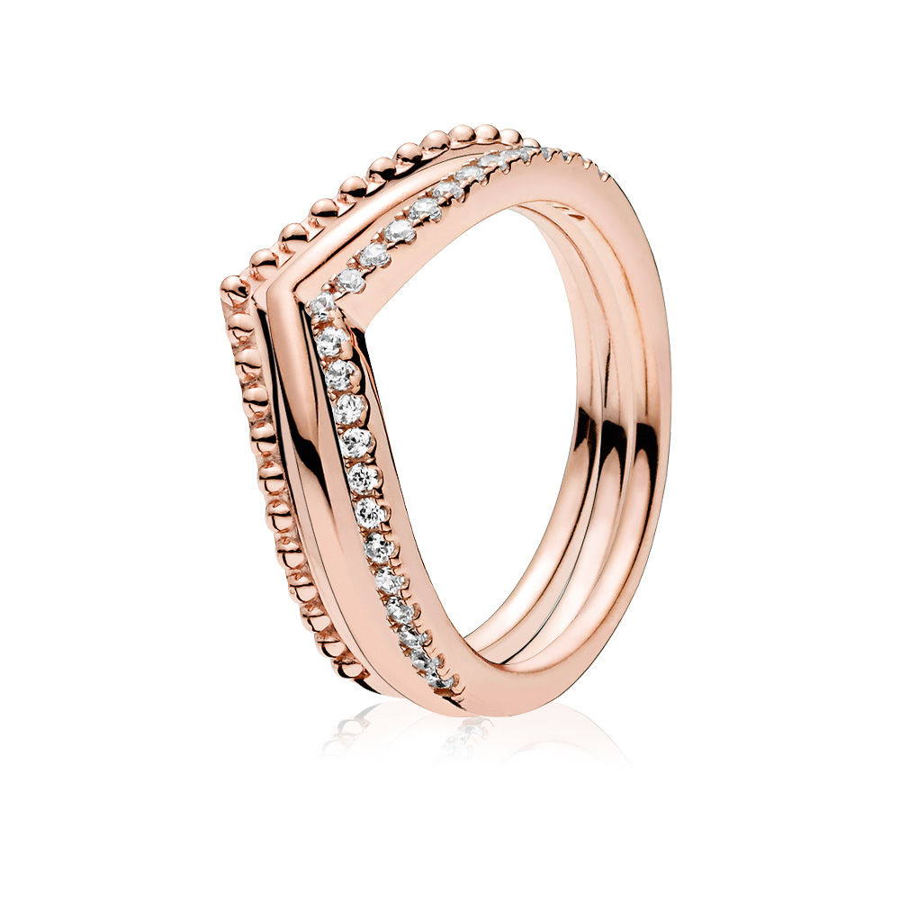 PANDORA Rose™ Wishbone Ring Stack