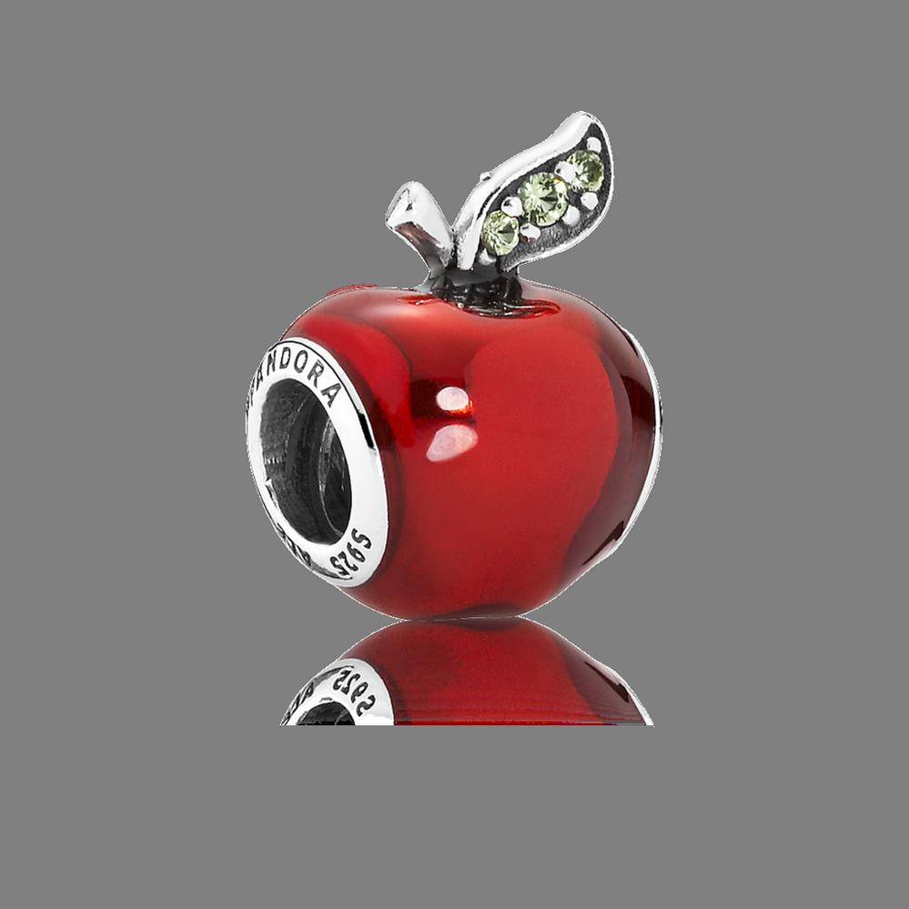 Disney, Snow White's Apple Charm, Red Enamel & Light Green CZ