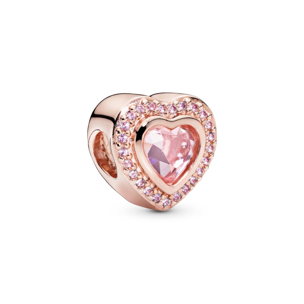 Sparkling Love Charm, PANDORA Rose™ & Pink Crystal, PANDORA Rose, Crystal - PANDORA - #787608NPM