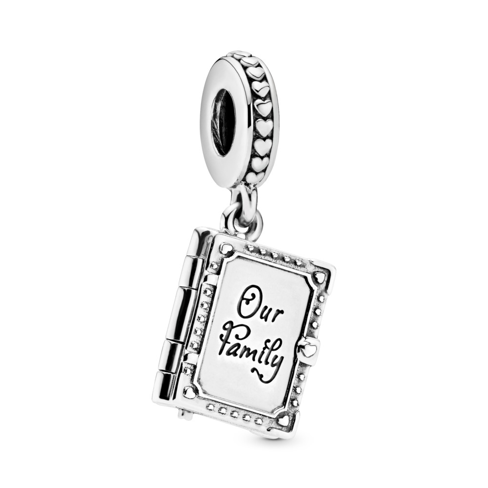 Family Book Dangle Charm, Sterling silver - PANDORA - #798105