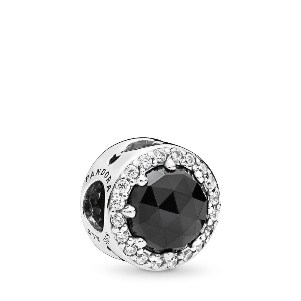 Disney, Evil Queen's Black Magic Charm, Black Crystals & Clear CZ, Sterling silver, Black, Mixed stones - PANDORA - #797487NCK