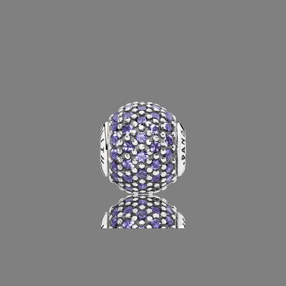 FAITH Charm, Purple CZ