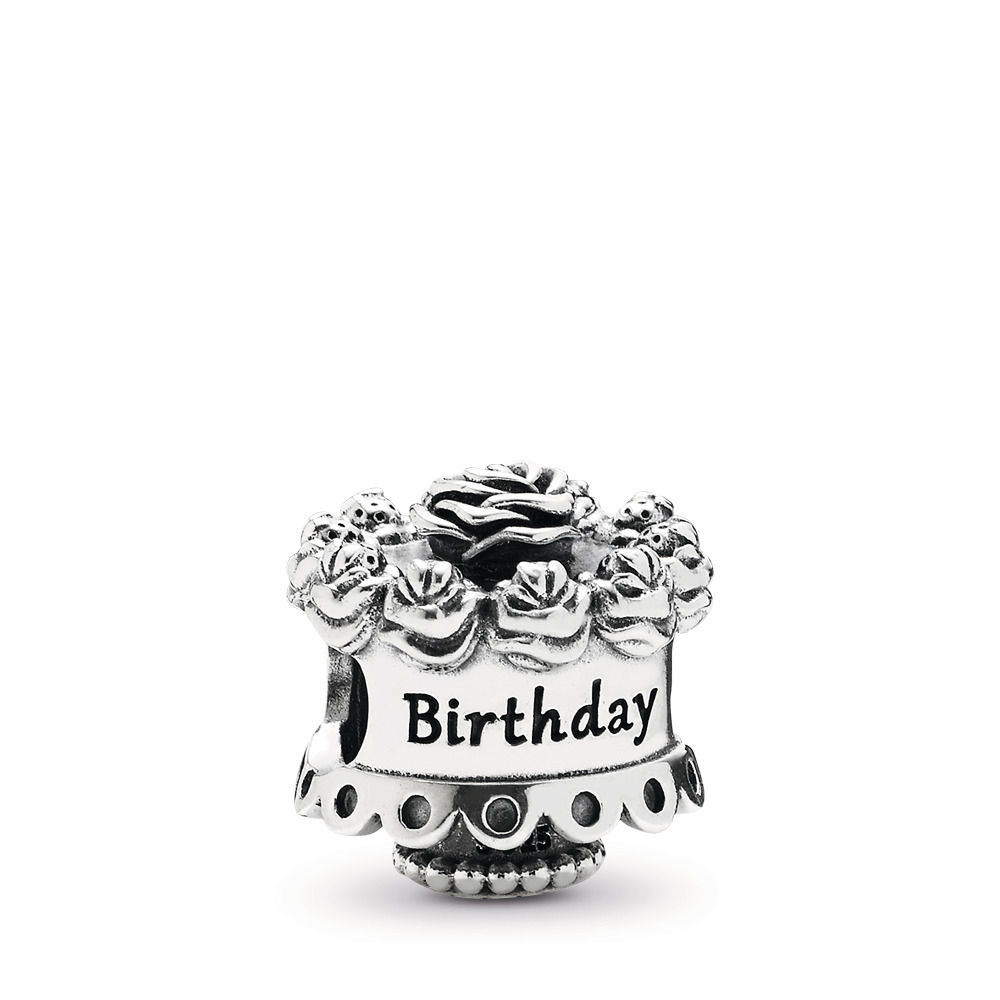 Happy Birthday Charm, Sterling silver - PANDORA - #791289