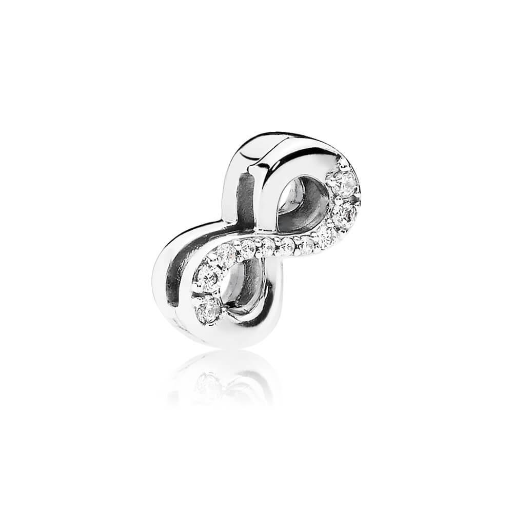 PANDORA Reflexions™ Sparkling Infinity Clip Charm, Clear CZ