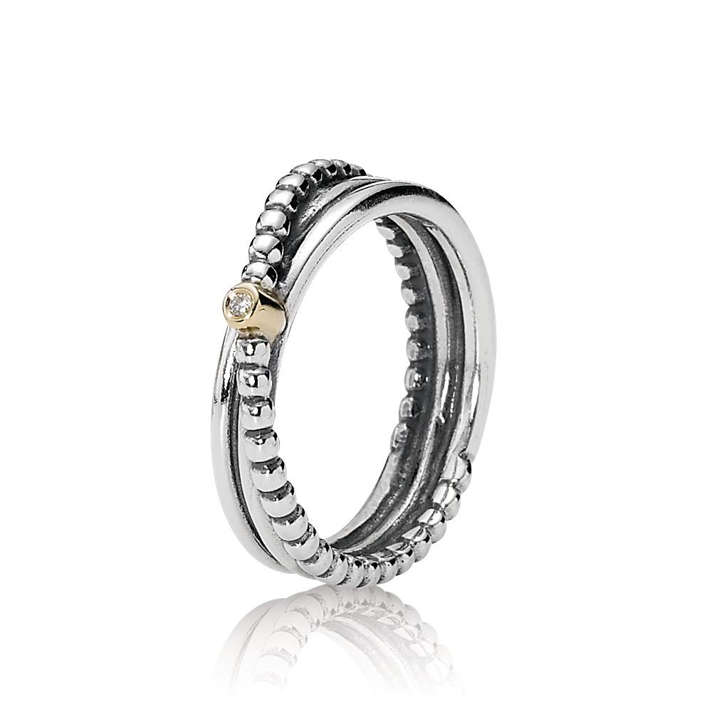 Rising Star Ring, Diamond, Two Tone, Diamond h/vs - PANDORA - #190243D