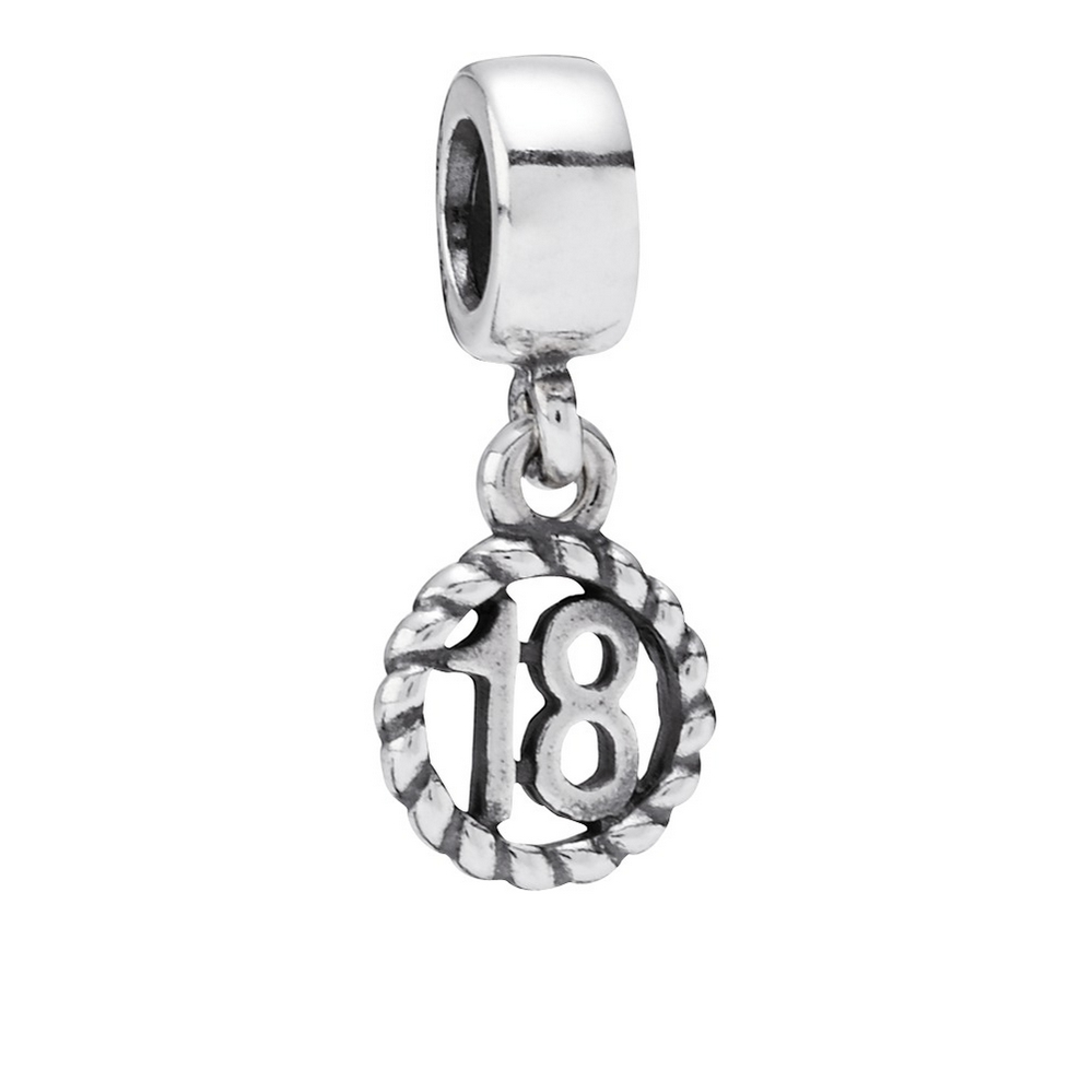 18th Birthday Dangle Charm