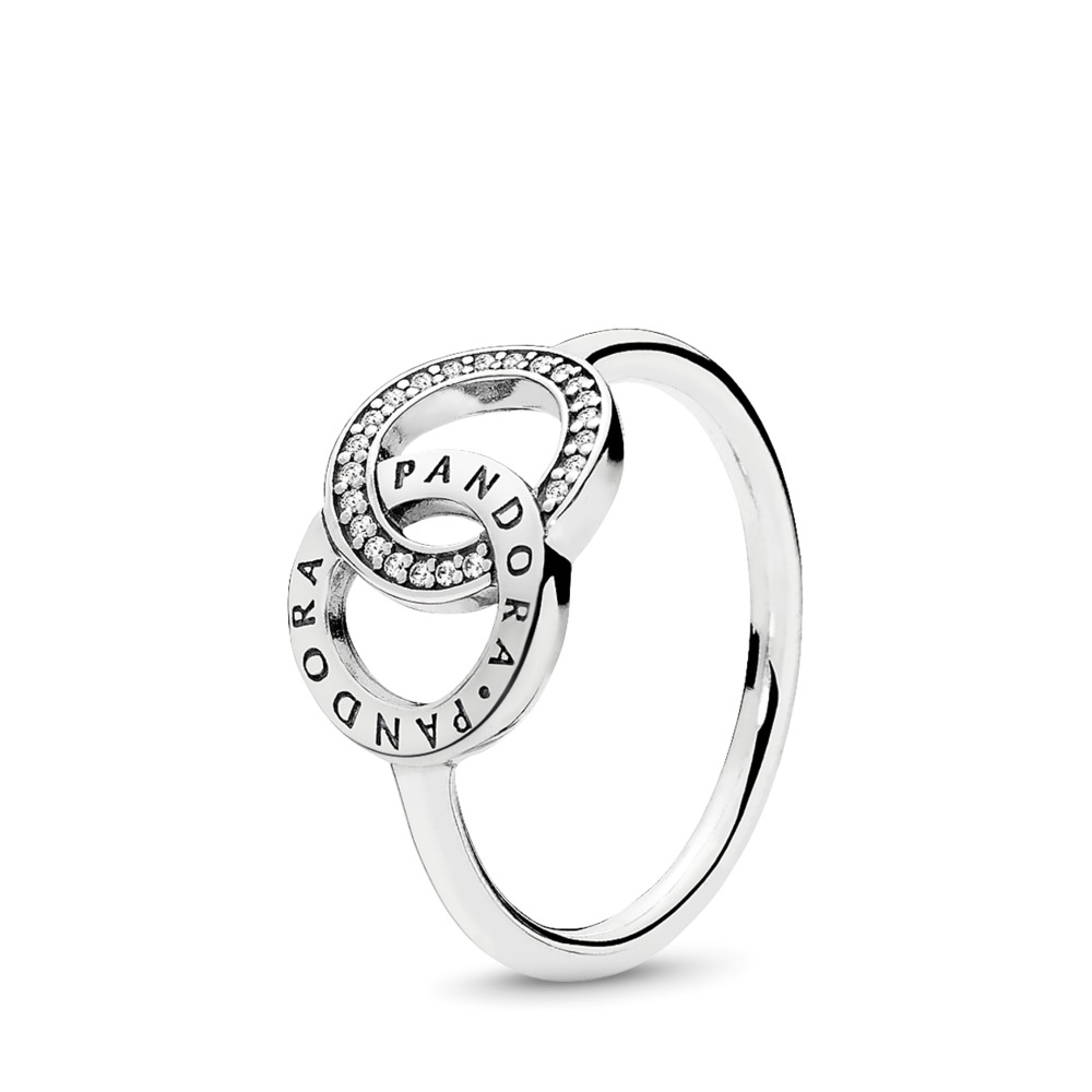 PANDORA Circles Ring, Clear CZ, Sterling silver, Cubic Zirconia - PANDORA - #196326CZ