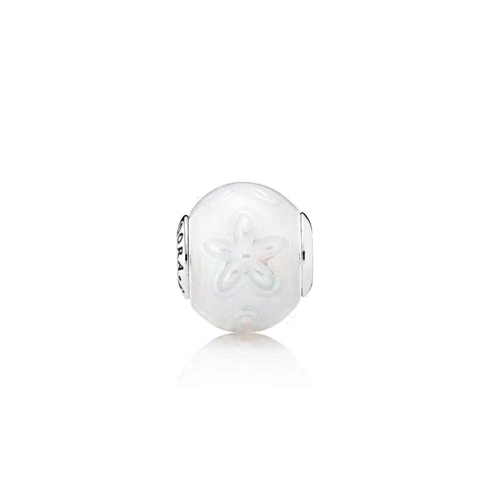 JOY Charm, Transparent White Enamel