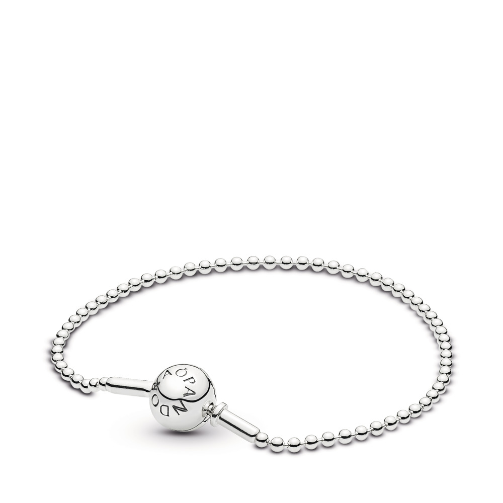 ESSENCE COLLECTION Beaded Bracelet in Sterling Silver, Sterling silver - PANDORA - #596002