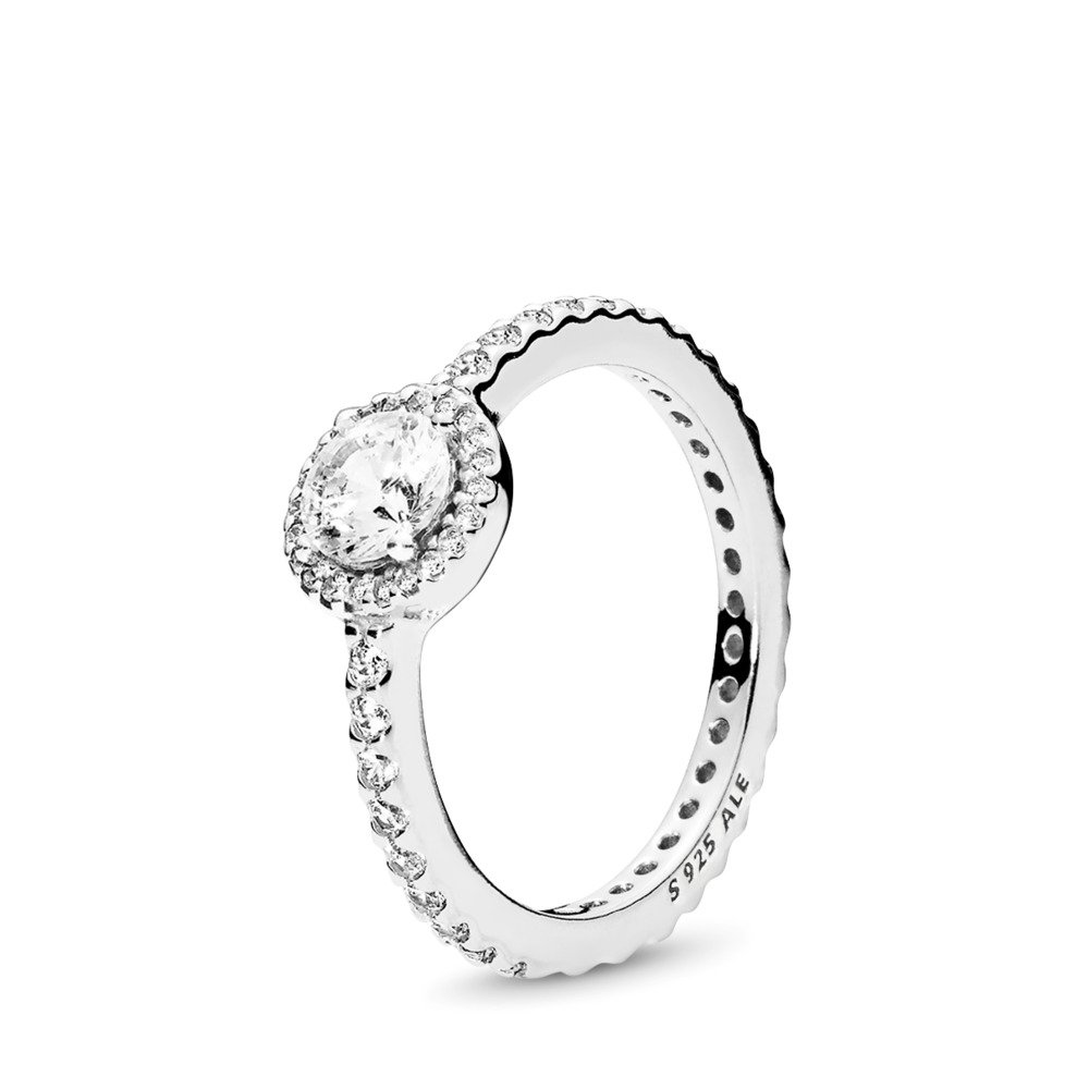 Classic Elegance Ring, Clear CZ, Sterling silver, Cubic Zirconia - PANDORA - #190946CZ