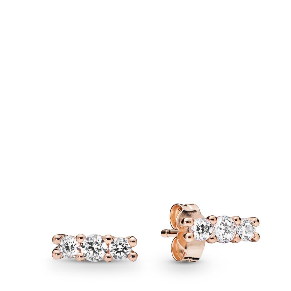 Sparkling Elegance Earrings, Pandora Rose™, PANDORA Rose, Cubic Zirconia - PANDORA - #280725CZ