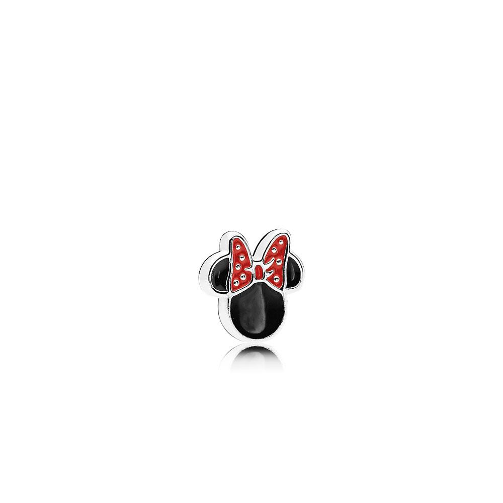 Disney, Minnie Icon Petite Locket Charm, Red & Black Enamel
