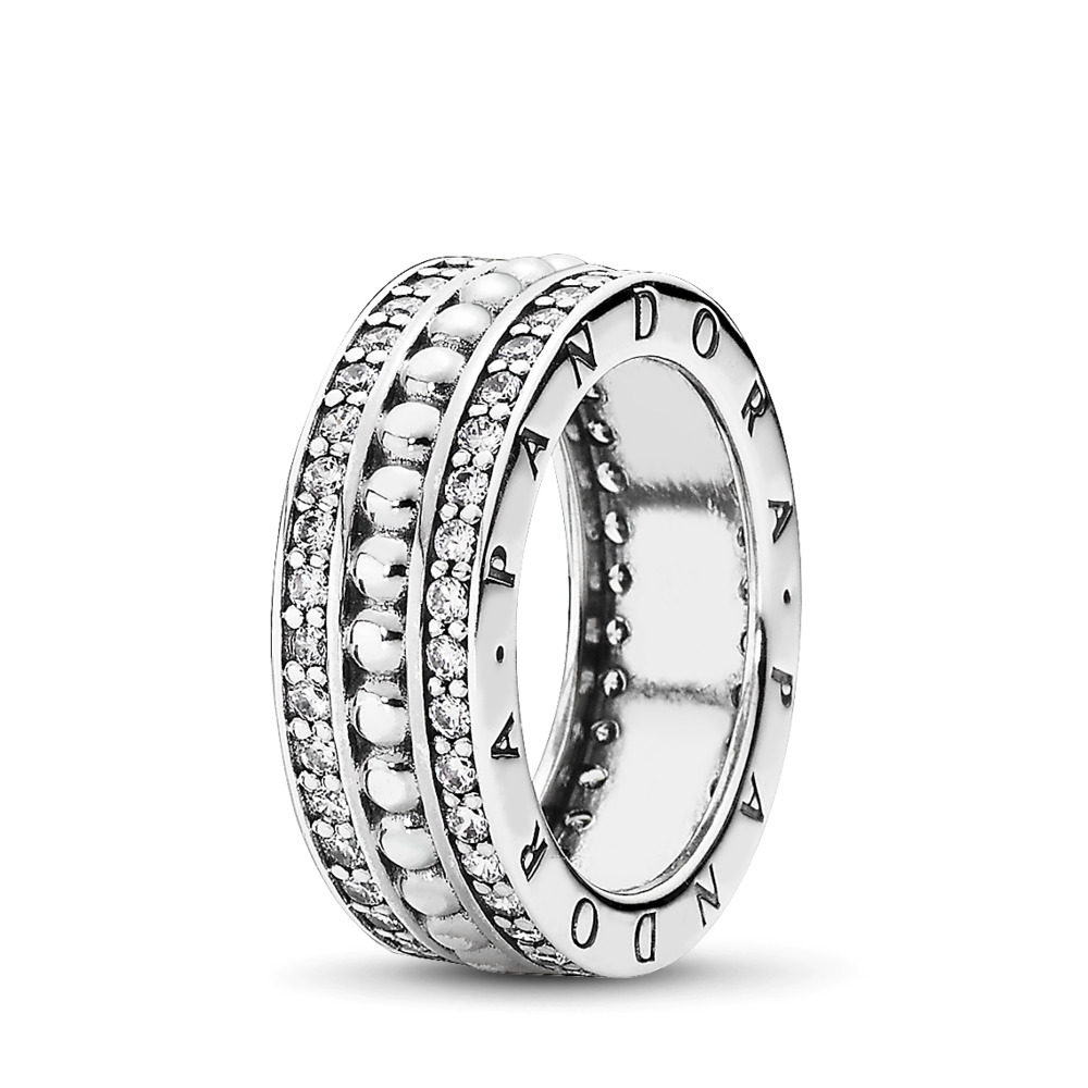 Forever PANDORA Ring, Clear CZ, Sterling silver, Cubic Zirconia - PANDORA - #190962CZ