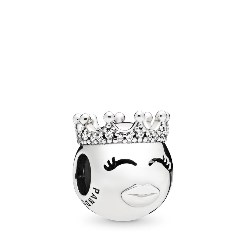 Princess Charm, Clear CZ, Sterling silver, Cubic Zirconia - PANDORA - #797143CZ