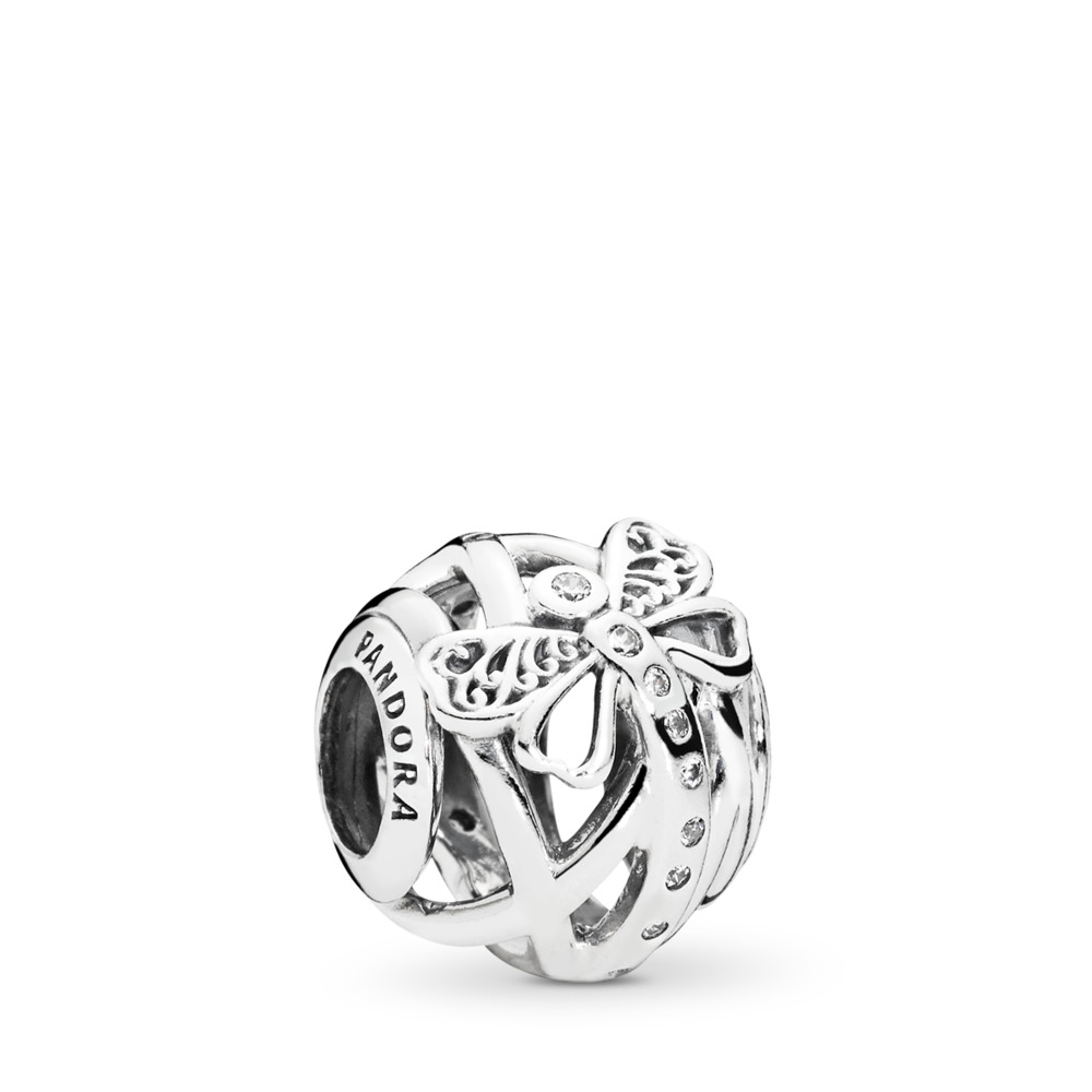 Dreamy Dragonfly Charm, Clear CZ, Sterling silver, Cubic Zirconia - PANDORA - #797025CZ