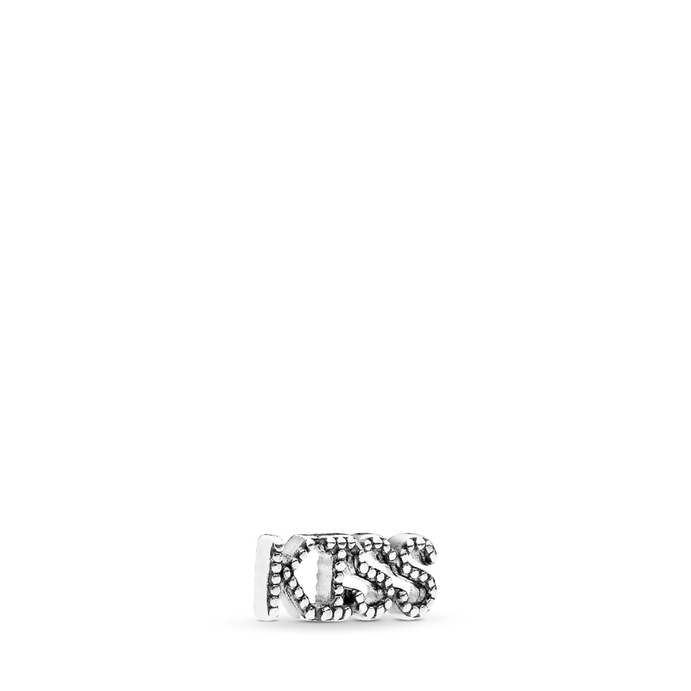 Kiss Script Petite Locket Charm, Sterling silver - PANDORA - #796567